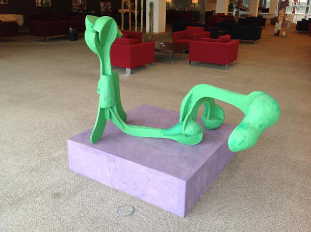 Green Figure On Violet Ground