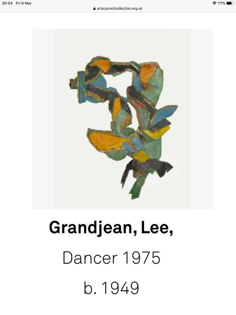 Dancer, Lee Grandjean, Arts Council Collection