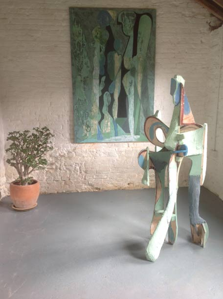 'Angels and Rain' with sculpture 'Angel'